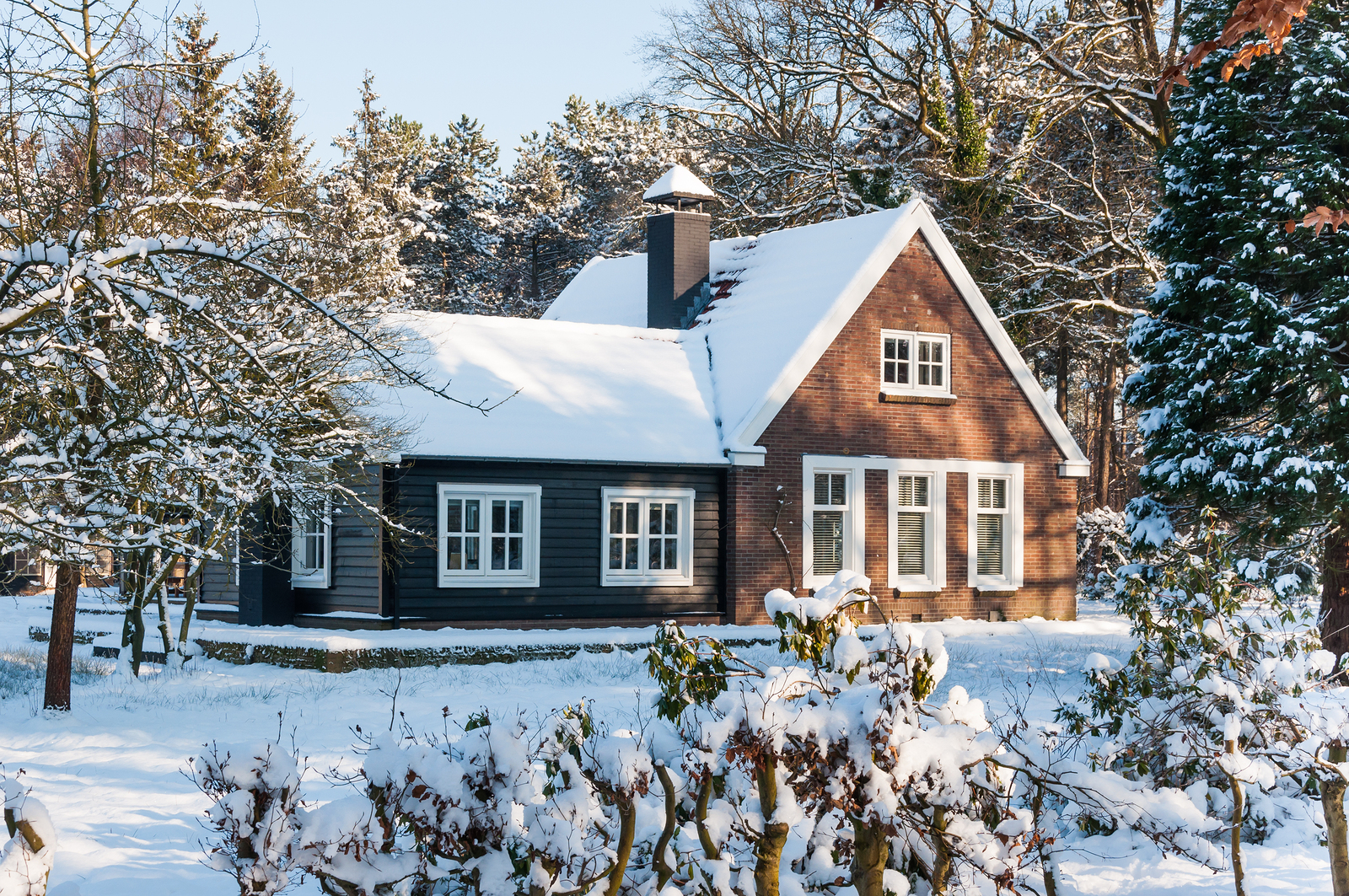 bigstock-Snowy-Wooden-House-In-The-Fore-41624890